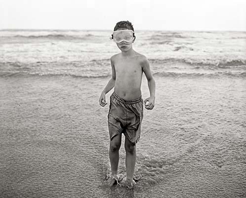 ocean, beach, shore, boy, child