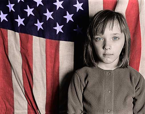 Child, Girl, Female, American Flag, Flag, American, Patriot, Patriotism, July 4th