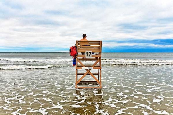 Lifeguard on duty at the beach.