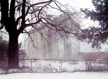 Winter, Snow, House, Fog, Foggy, Misty, Mist, Ghostly, Eerie