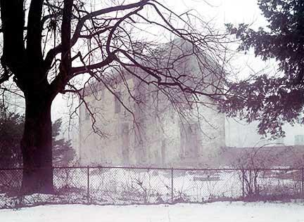 Winter, Snow, House, Fog, Foggy, Misty, Mist, Ghostly, Eerie