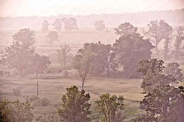 Gettysburg, Morning, Fog, Foggy, Mist, Misty