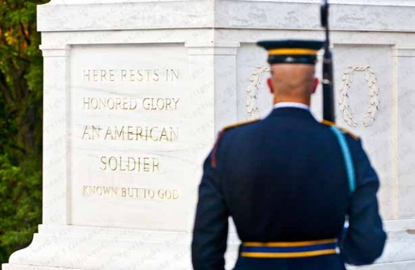 The Tomb of the Unknown Soldier at Arlington National Cemetary,