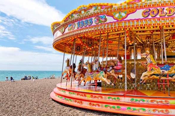 carousel, ocean, brighton, england