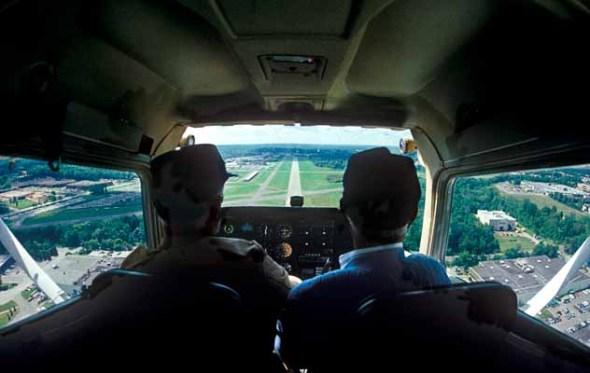 Plane, airport, cessna, landing