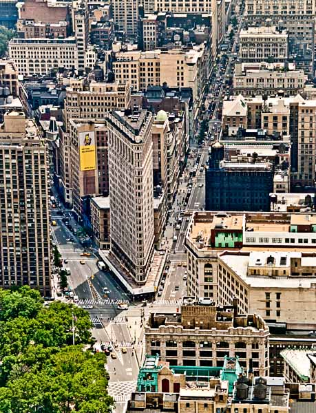 New York City Flatiron Building Aerial View