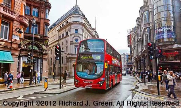 Double decker bus in London, England.