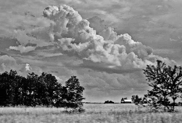 Storm Clouds, Field, Farm, Landscape
