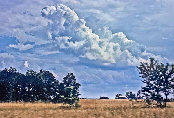 Storm clouds, Landscape, Farm