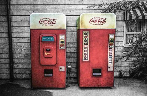 coca cola soda machines