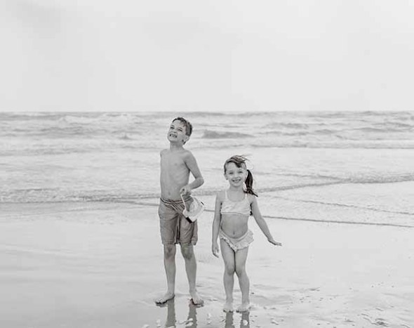 children, boy, girl, ocean, beach, vacation