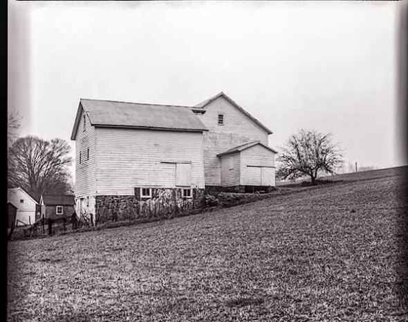 barn, farm, field, B&W, fine art