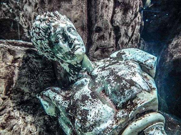 Roman-Statue, Las Vegas, Aquarium