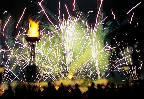 Happy New Year, fireworks