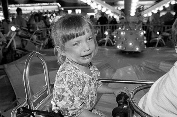 amusement park ride, child, little girl