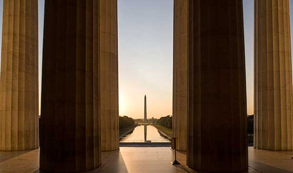 The Washington Monument in Washington DC.