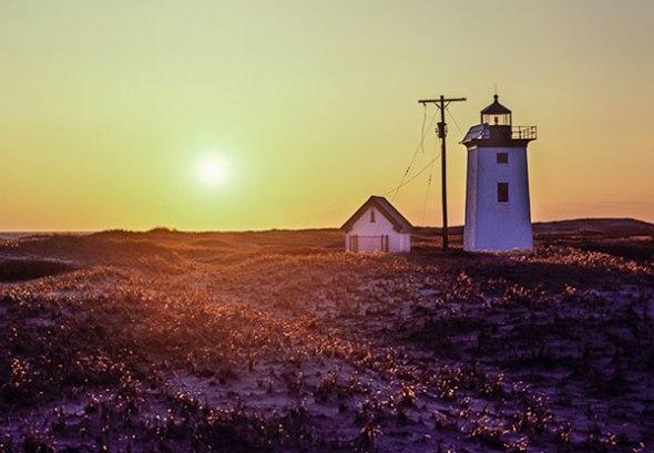 Cape Cod, Provincetown, Lighthouse, Sunset