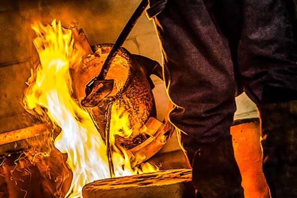 Aluminum, Molten Metal, Artist