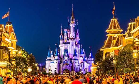 Disney World, Magic Kingdom, Cinderella's Castle, Orland, Florida