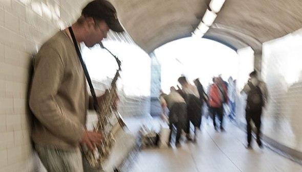 Street musician, london, england