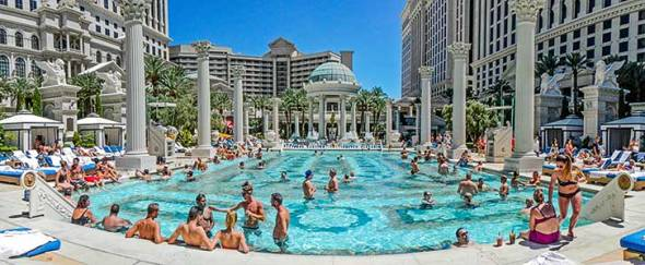 Caesar's Resort, Las Vegas, Swim, Swimming Pool, Vacation