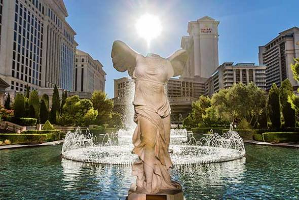 las vegas, caesar's resort, sun, angel