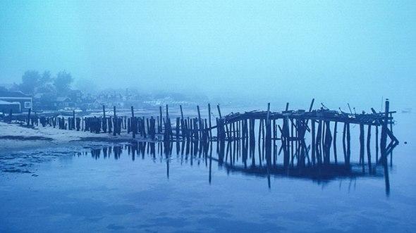Cape Cod, Provincetown, Pier, Fog, Foggy