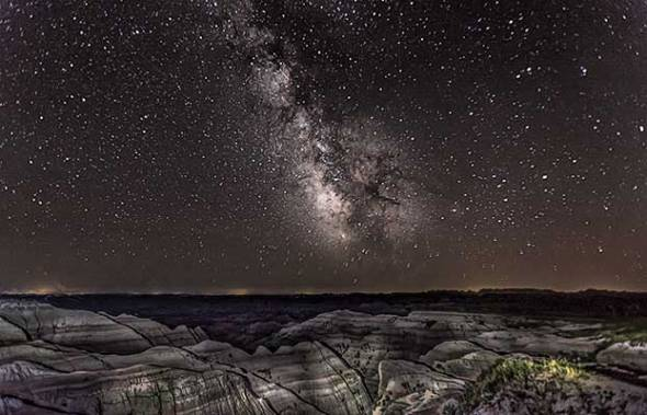 Badlands National Park, Milky Way Galaxy