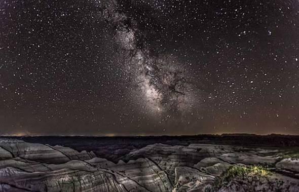 Badlands National Park, Milky Way Galaxy