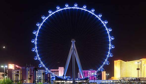 Las Vegas, High Roller, Night, Nighttime