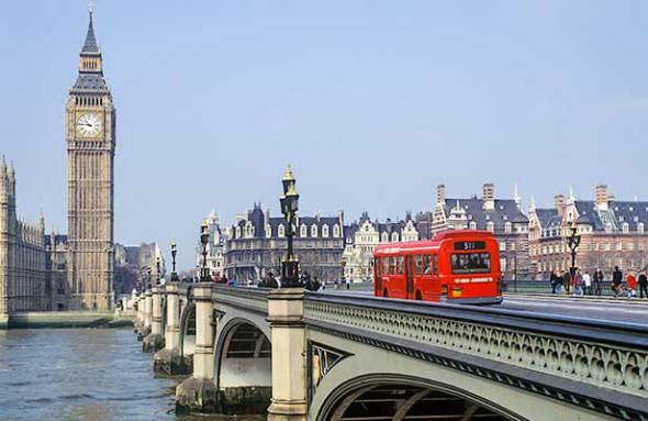 London, England, Great Britain, Parliament, Big Ben, Westminster Bridge, Double-decker bus