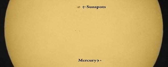 Mercury, Sun, Sunspots, Planets, Solar System, Planet, Solar, Astronomy