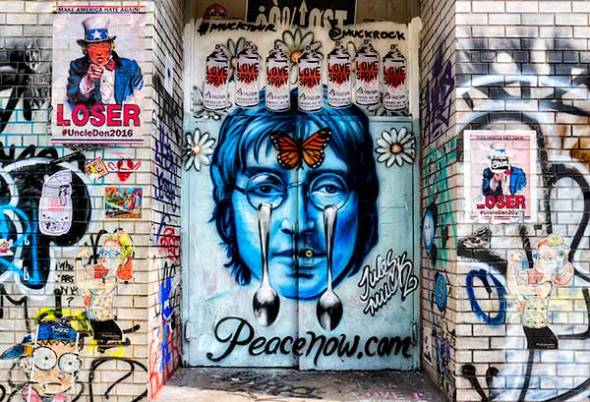 Graffiti, John Lennon, Art, Street Art