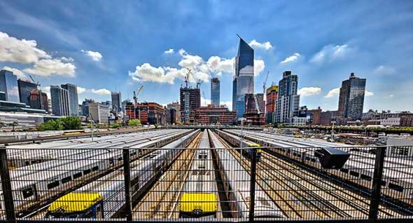 Hudson Rail Yard, Manhattan, Subway, Trains, New York City