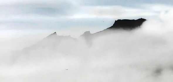 Iceland, Vik, Mountain, Clouds