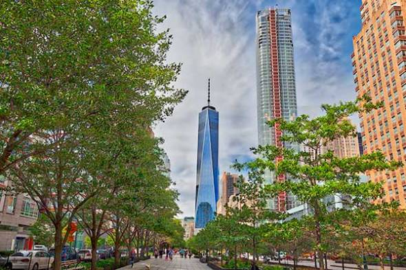 Hudson River Greenway, Freedom Tower, Manhattan, New York City