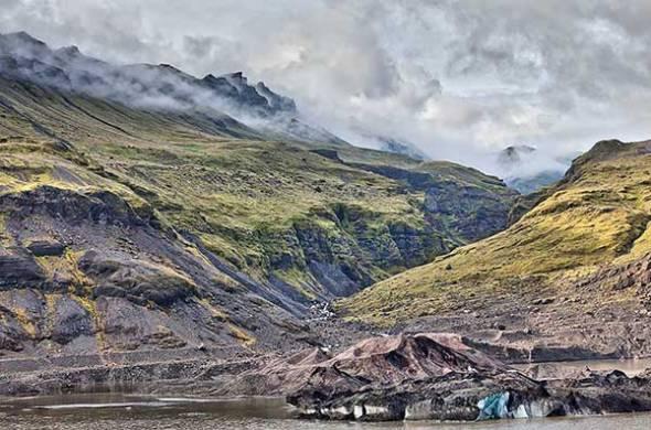 Iceland, Glacier, Mountain, Fog