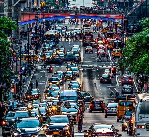 Gridlock in Gotham, New York City